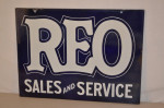 Reo Double-Sided Porcelain Sign