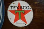Texaco Single-Sided Porcelain Sign