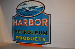 Harbor Petroleum Single-Sided Porcelain Diecut Sign