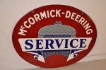 Mccormick-Deering Double-Sided Porcelain Oval Sign