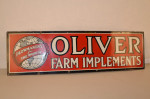 Oliver Farm Implements Single-Sided Porcelain Sign