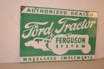 Ford Tractor Double-Sided Porcelain Sign