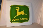 John Deere Single-Sided Tin Embossed Self-Framed Sign