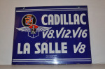 Cadillac Double-Sided Porcelain Sign