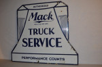 Mack Truck Die-Cut Double-Sided Porcelain Sign