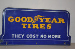 Goodyear Tires Double-Sided Porcelain Diecut Sign