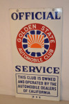 Golden State Automobile Club Double-Sided Porcelain Sign