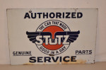 Stutz Double-Sided Porcelain Sign