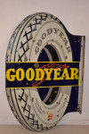 Goodyear Porcelain Flange Sign