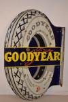Goodyear Porcelain Flange Sign