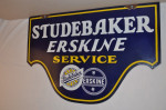 Studebaker Erskine Double-Sided Porcelain Diecut Sign