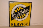 Studebaker Double-Sided Porcelain Sign