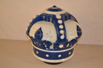 Blue Crown Opc Milkglass Globe