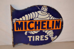 Michelin Porcelain Flange Sign