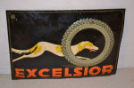 Excelsior Tire Single-Sided Tin Convexed Sign