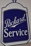 Packard Double-Sided Porcelain Diecut Sign