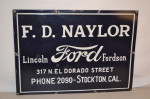 Lincoln Ford Fordson Single-Sided Porcelain Sign