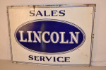 Lincoln Single-Sided Porcelain Sign