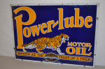 Power-lube Double-Sided Porcelain Sign