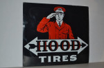 Hood Tires Double-Sided Porcelain Sign