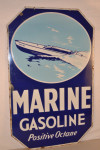 Marine Gasoline Double-Sided Porcelain Sign