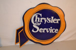 Chrysler Double-Sided Porcelain Diecut Sign