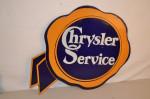 Chrysler Double-Sided Porcelain Diecut Sign