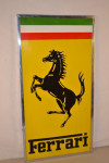 Ferrari Single-Sided Porcelain Self-Framed Sign