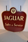Jaguar Double-Sided Porcelain Sign