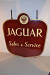 Jaguar Double-Sided Porcelain Sign
