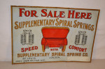 Spiral Spring Co. Single-Sided Tin Cardboard Back Sign