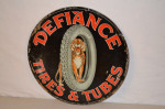 Defiance Tires Single-Sided Tin Sign