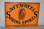 Safewheels Single-Sided Tin Embossed Sign