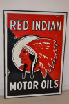 Red Indian Single-Sided Porcelain Self-Framed Sign