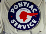 Pontiac Double-Sided Porcelain Sign