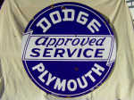 Dodge Plymouth Double-Sided Porcelain Sign