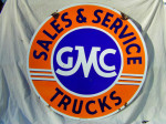 GMC Trucks Double-Sided Porcelain Sign