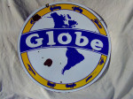 Globe Double-Sided Porcelain Sign