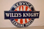 Willys Knight Double-Sided Porcelain Diecut Sign