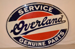 Overland Double-Sided Porcelain Oval Sign