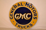 GMC Double-Sided Porcelain Sign