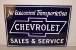 Chevrolet Double-Sided Porcelain Sign