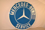 Mercedes-Benz Double-Sided Porcelain Sign