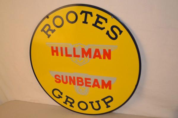 hillman sunbeam singlesided porcelain sign antique