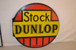 Stock Dunlop Porcelain Flange Sign
