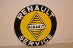 Renault Single-Sided Porcelain Sign