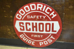 Goodrich Single-Sided Porcelain Sign