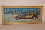Francisco Auto Heater Self-Framed Tin Sign
