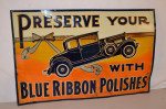 Blue Ribbon Polishes Single-Sided Tin Sign