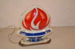 Amoco Small Plastic Flame With Light